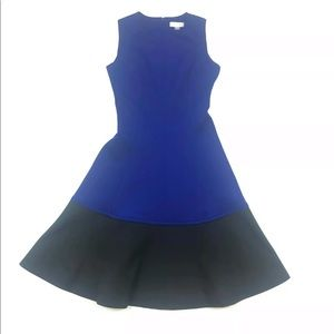 Calvin Klein black blue color block dress size 2